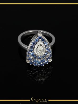 Deep Skies - Sapphire and Diamond Ring